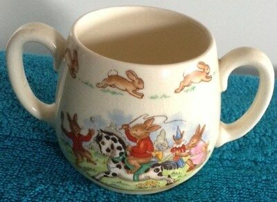 Vintage Royal Doulton 'Playing' Bunnykins Two Handled Cup/Mug