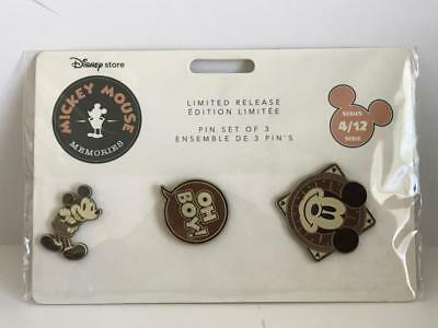 Disney Store Mickey Mouse Memories April 3 Pin Set Limited Release Authentic