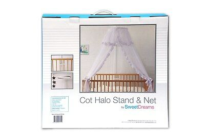 Sweet Dreams Cot Halo Stand with Net White ( SOLD OUT )