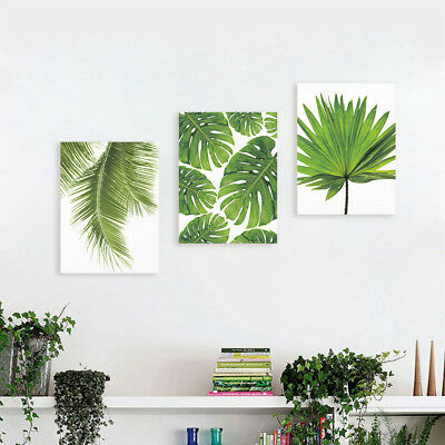 Vase Green Plant Leaves Canvas Painting Wall Modern Art print Poster Picture