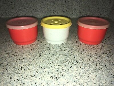 Vintage Tupperware Snack Cup Containers