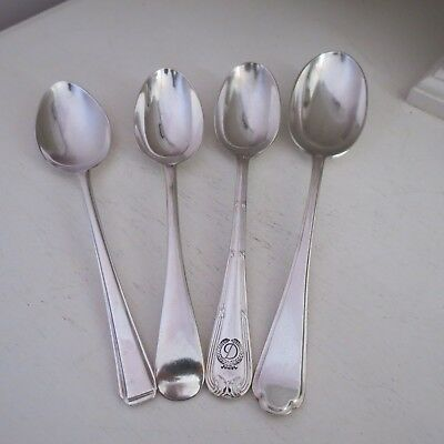 Silver plate serving spoons x 4 includes walker & hall