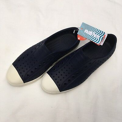 New Native Shoes Jefferson Adult Unisex Mens 8 Womens 10 Blue White Lite Weight