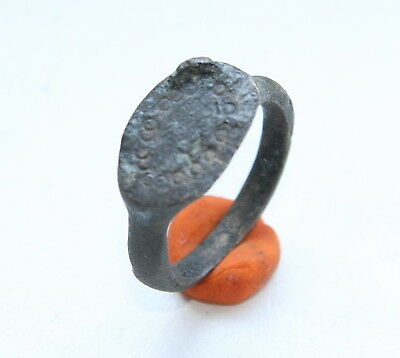 Ancient Old Medieval Bronze Ring (MJA65)
