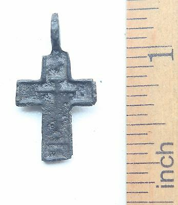 Ancient Old Bronze Golgotha Cross (AVG22)