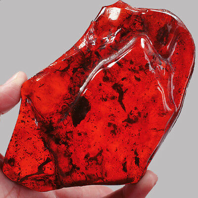 101.3g Baltic BLOOD RED AMBER Specimen Collectibl​e Natural UBXP165