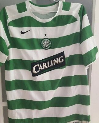 Rare Vintage Nike Celtic 2005/06 Home Shirt Large Keane #16 Glasgow SPL