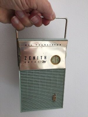 Zenith Model Royal 300 Classic 50'S Transistor Radio Fully Working Condition