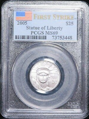 2005 American Platinum Eagle Quarter Ounce $25 1/4 oz PCGS MS69 First Strike