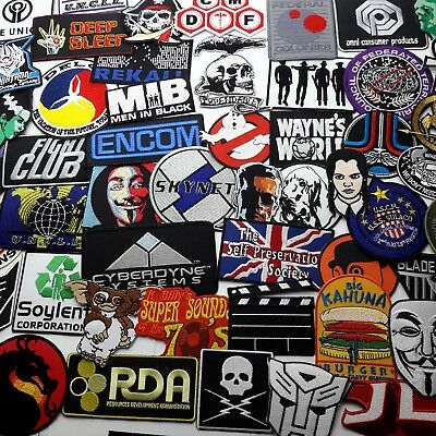 MOVIE PATCHES, From The Greatest Movies - Embroidered Iron-On Patch Shop - NEW!