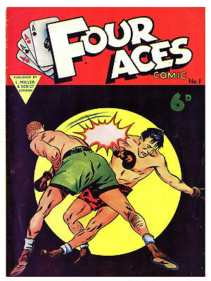 FOUR ACES No.1 - BRITISH 6d .  -   Facsimile Comic