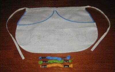 Vintage Half Apron To Embroider ~ Cotton/linen ~ Embroidery Thread