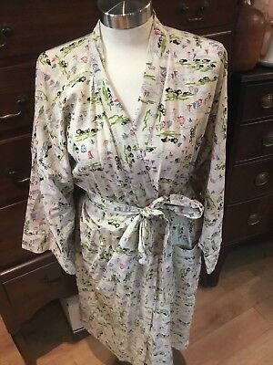 Vintage Silk Mens Created By Style Rite Natical Robe Must See No Reserve Wow
