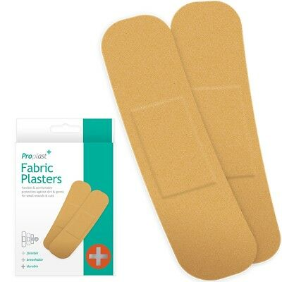 STERILE FABRIC PLASTERS 100/200/500 Breathable Sticky First Aid Wound Band Aids