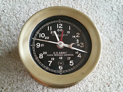 Chelsea Ships' Clock WW2 Message Centre M1 US Army