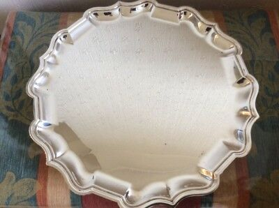Fine Antique Solid Sterling Silver Salver - 872g - George V London 1918