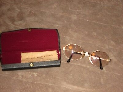 From an Optometrist Estate Vintage Pair Glasses marked  1/30  10 KT