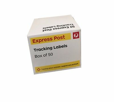 200 Australia Express Post Tracking Labels: 4 Boxes