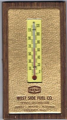 Texaco Advertising Thermometer - West Side Fuel Co., Temperance, Mi