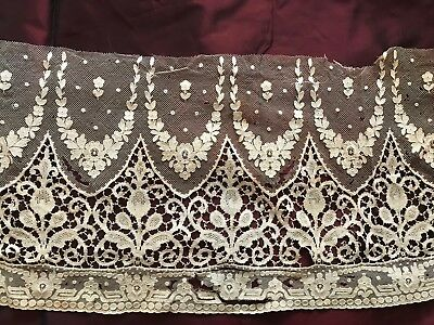 ANTIQUE LACE (unfortunately badly damaged - can be used for application