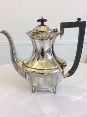 Heavy Antique George V Sterling Silver Coffee Pot - 1921
