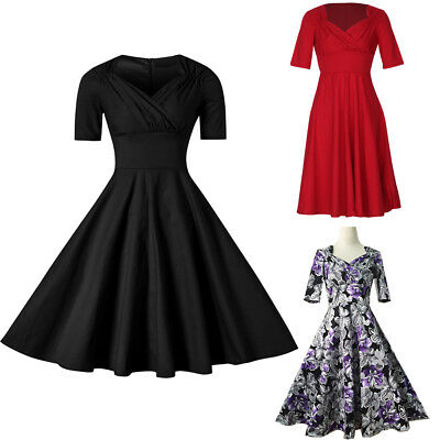 876777d5dcaf New Old Fashion Ladies 50s Vintage SWING Dress Cocktail Party Swing  Sweetheart