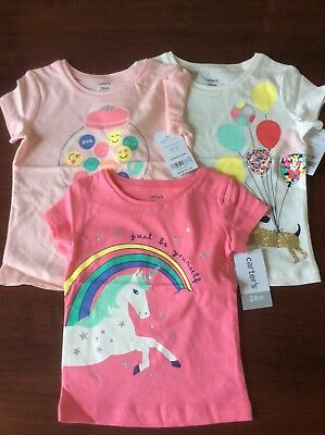 carters girls shirt three shirt lot size 24 months. NWT