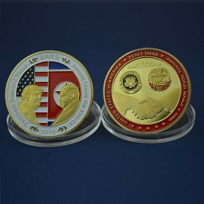 2018 Singapore Summit Donald J. Trump Kim Jong Un Peace Talk Challenge Coin