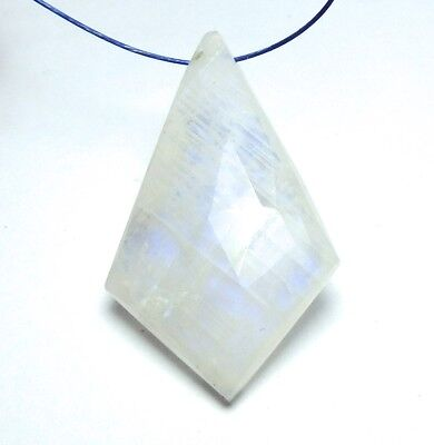 RAINBOW MOONSTONE 33mm Kite Teardrop Pendant Bead AAA NATURAL /P17