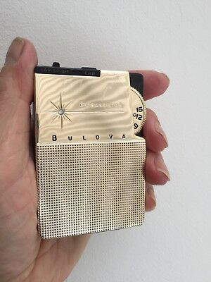 Vintage Bulova Bantam 6-Transistor Radio Japanese 1960 Working Condition