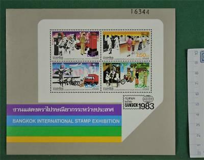 Thailand Mini Sheet 1983 Bangkok International Stamp Exhibition Mint  (B337)