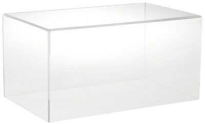 """Plymor Brand Clear Acrylic Display Case with no Base 16"""" W x 10"""" D x 8"""" H"""