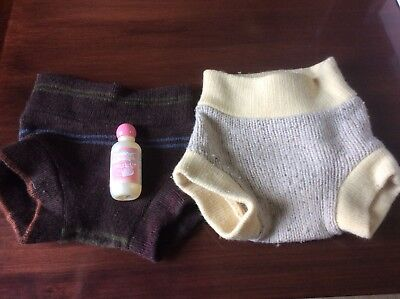 two wool diaper covers size medium