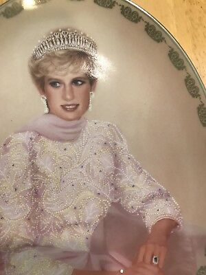 """Princess Diana Collectable Plate """"Affectionately Diana"""" 1998"""