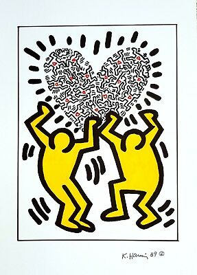 Keith Haring - Color Ink drawing (Pop art)