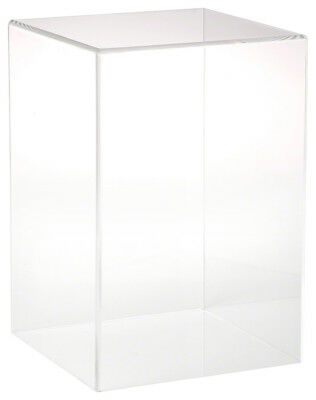 """Plymor Brand Clear Acrylic Display Case with No Base, 8"""" W x 8"""" D x 12"""" H"""