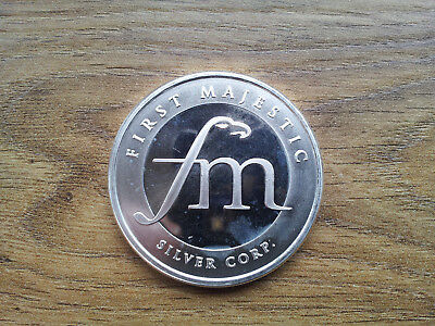 First Majestic one troy ounce -  999 fine silver bullion round
