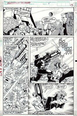 Guardians of the Galaxy #10 p 13, Jim Valentino, Marvel, Action, Cosmic, 1991!