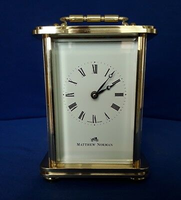 Vintage matthew norman 8 day timepiece carriage clock,full service June 2018.