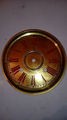 vienna wall clock brass face