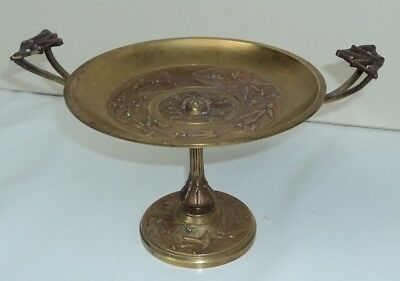 Neoclassical Grand Tour Bronze ~ Brass Tazza with Medusa head