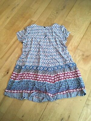 Zara Red And Blue Playsuit Age 5-6