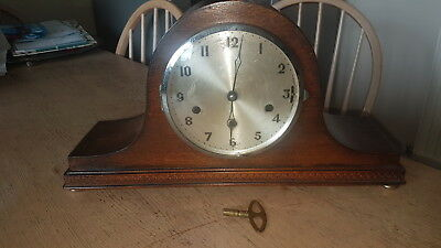 Vintage Napoleon Hat Westminster Chime Mantel Clock With Key / 3 Chimes & Silent
