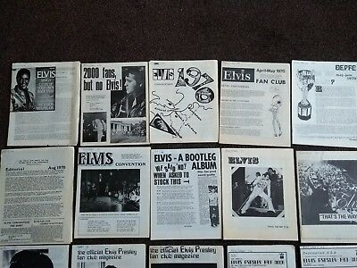 OFFICIAL ELVIS PRESLEY FAN CLUB MAGAZINES 1960s and 1970s!!!
