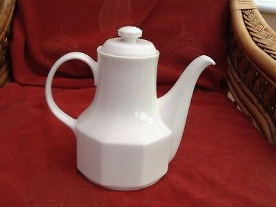 Royal Doulton Plain White Coffee Pot In Tangent Design.
