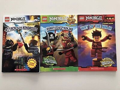 Lego Ninjago Books Two-sided Stories Lot Of 3 Very Good Condition