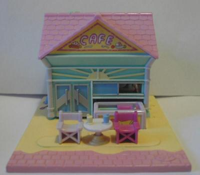 Vintage Polly Pocket Beach Cafe,1993 ,100% COMPLETE