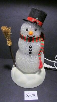 1991 Working Chilly Sam Light-Up Snowman, Avon, The Gift Collection Original box