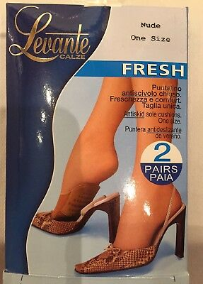 Levante Toe Covers, Footsies 2 Pair Pack, Nude, One Size