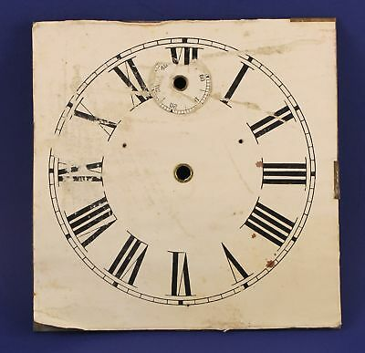 "ANTIQUE 8"" SQUARE PAPER over METAL DIAL - MP37"